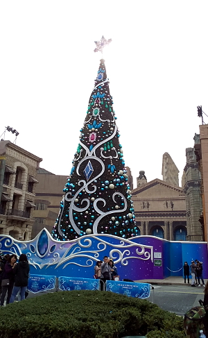 クリスマス一色のUSJ